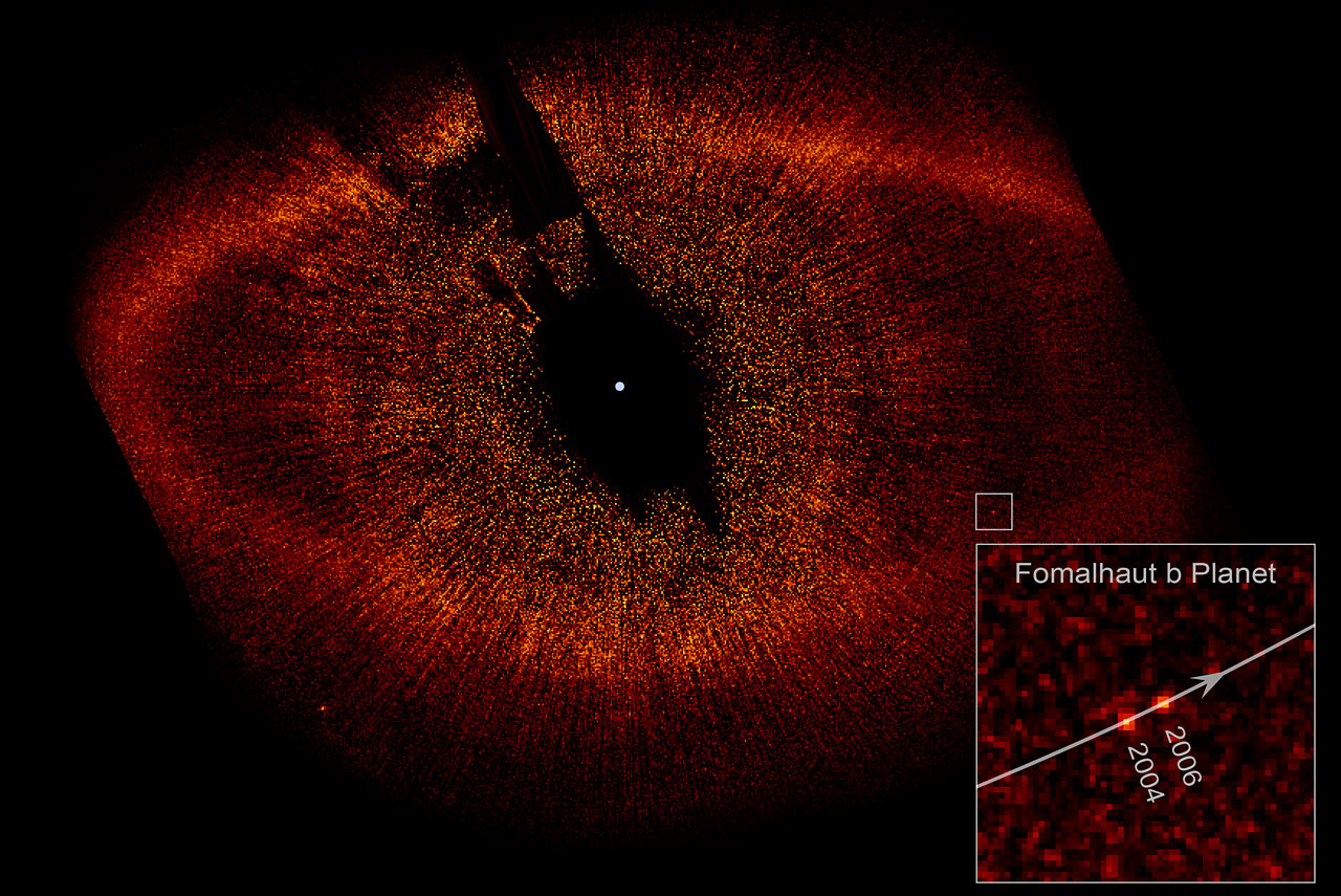 Fomalhaut b orbiting its parent star, Fomalhaut