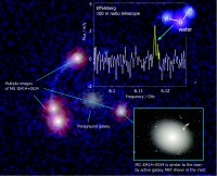 Earliest radio fingerprint of water in a distant galaxy