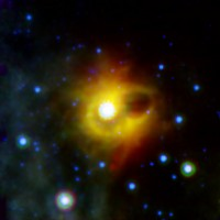 Ghostly ring around a magnetar