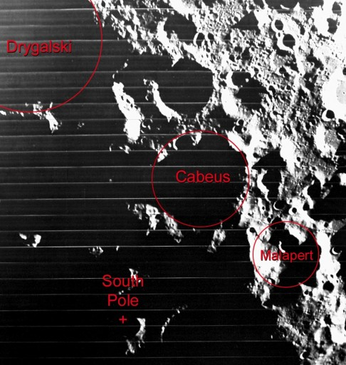 Cabeus and other craters